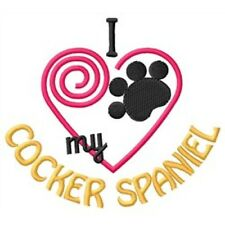 """I """"Heart"""" My Cocker Spaniel Ladies Fleece Jacket 1353-2 Size S - Xxl"""