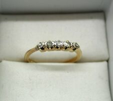 Vintage 18ct Gold Five Stone Diamond Ring