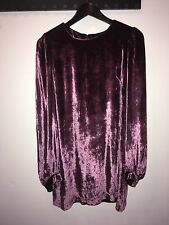 French Connection mini dress long sleeve special occasion, purple velvet size 10