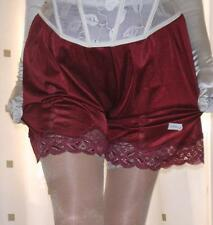 Dark red wine silky nylon french knickers panties culottes briefs pettipants
