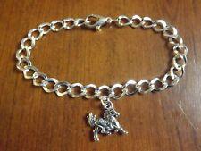 bracelet argenté 20 cm cheval 15x16 mm