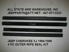 Window Sweep Outer Front & Rear L & R Set of 4 for 84-96 Jeep Cherokee Wgn XJ