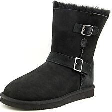 Kirkland Signature Women's Shearling Buckle Boot Black US Size 7 NEW