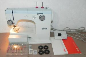 ELNA 62C SU SEWING MACHINE EXCELLENT WORKING WITH CAMS & ACCESSORIES