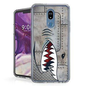 For LG Stylo 5,5+,5x Q720 Hybrid Bumper Shockproof Case Metal SpitFire Shark