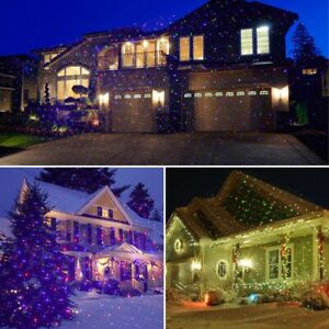 Christmas Laser Light Projector Waterproof Moving Static Outdoor For Home Party