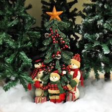 Statuine pupazzi di neve multicolore per l'albero di Natale, tema natale