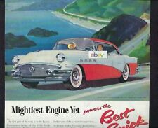 BUICK 1956 CENTURY WITH MIGHTIEST ENGINE YET 255 V-8 RED/WHITE TWO TONE AD