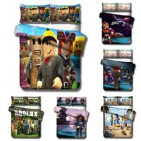 3D Roblox Design Bedding Set 3PCS Duvet Quilt Cover & Pillowcase XMAS Kids Gift