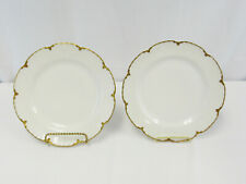 Haviland Limoges France Silver Anniversary Schleiger Set Of 2 Luncheon Plates