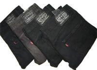 Mens LEVIS 510 Black Skinny Fit Denim Jeans W32 W34 W36