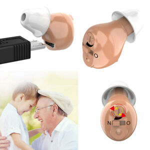 Mini Digital Hearing Aid Ear Invisible USB Rechargeable Sound Amplifier Enhancer