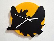 Dumbo Cartoon - Black & Yellow Silhouette - Wall Clock