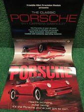 """Franklin Mint """"Porsche 911 Carrera Cabriolet"""" Brochure!"""