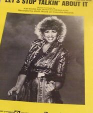 "JANIE FRICKE ""LET'S STOP TALKIN' ABOUT IT"" PIANO/VOCAL/GUITAR CHORDS SHEET MUSIC"