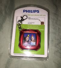 """Phillips Digital Photo Keychain 1.5"""" LCD 8 MB Rechargable Brick Red (NEW)"""