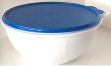Tupperware Thatsa Bowls Set of of 2 - White w/ Vivid Blue Seals 12 & 6 cups New