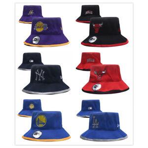 Fashion NBA Bucket Caps Cotton Summer Sun Protection Beach Visor Travel Hats