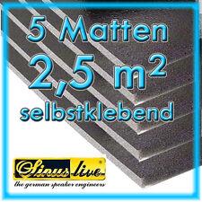 5 Matten KFZ Dämmung 11mm dick Dämmschaummatte 1m x 0,5m DSM selbstklebend