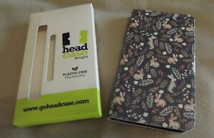 Julia Badeeva Cute Bunny Rabbit Book Wallet Case For Samsung S9+ Phone-NIB
