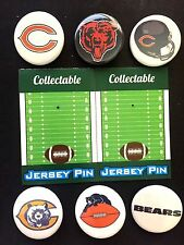 Chicago Bears pins-Collectables-( 6 )-Touchdown DEAL-Great for Caps & Shirts