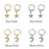 New Women Star Hoop Dangle Earrings Ear Piercing Earring Jewelry