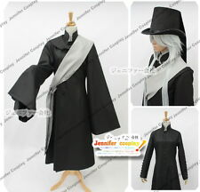 Black Butler Kuroshitsuji Undertaker Cosplay Costume + Hat