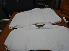 1969 CAMARO REAR SEAT COVERS NEW DELUXE WHITE COUPE RS SS Z28 COMFORT WEAVE 69