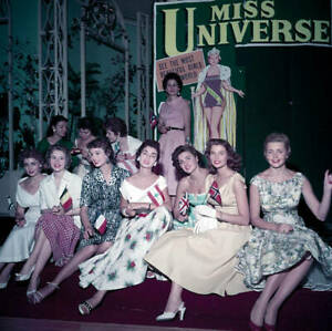 The Miss Universe beauty pageant contestants 1955 OLD PHOTO 3