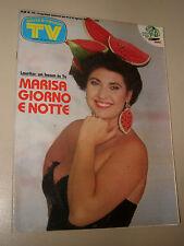 TV SORRISI CANZONI=1987/33=MARISA LAURITO=RICCHI E POVERI=MICHELE KLIPPSTEIN=