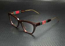 GUCCI GG0601O 002 Square Havana Gold Havana Demo Lens 50 mm Women's Eyeglasses