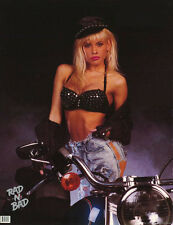 POSTER: MODEL WITH  MOTORCYCLE - RAD-N-BAD -SEXY FEMALE -     RAP7 D