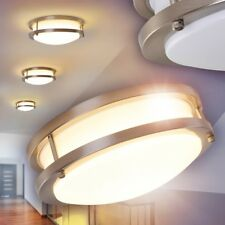 Plafoniera Salotto Luce LED Bianco Metallo Soggiorno Bianco IP44 Moderno Cucina