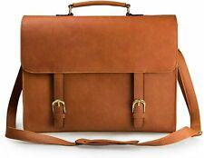 Estarer Womens Laptop Satchel Briefcase Messenger Shoulder Bag Brown D41