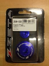 KAWASAKI  KXF450  KXF 450  KX450F  2009-2017  ZETA ENGINE PLUGS BLUE