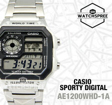 Casio AE-1200WHD-1A Digital Quartz Men's Watch - Silver