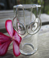 925 Sterling silver handmade round spiral earrings