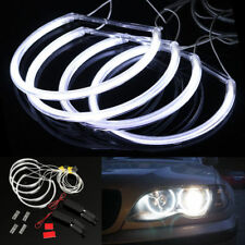 4x CCFL Scheinwerfer LED Halo Ring DRL Lampe Weiß Angel Eyes Für BMW E46 3 Serie