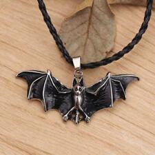 Fashion Rope Enamel Bat Pendant Necklace Unisex Gothic Halloween Jewelry New