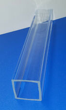 "2 Pc 2"" OD x 1 3/4"" ID SQUARE CLEAR ACRYLIC PLEXIGLASS LUCITE TUBE 6"" INCH LONG"