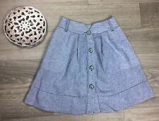 Boss Hugo Boss Skirt size 2 orange label Blue Linen Flared Bottom office Career