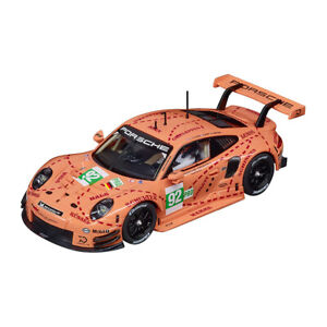 "Carrera Evo 20027654 Porsche 911 Rsr "" Rose Pig "" #92 Rose Véhicule Neuf !°"
