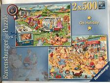 Ravensburger 2 X 500 Piece Jigsaw Puzzle On Holiday / NEW & SEALED / Premium