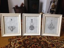 Vintage Shabby Chic Picture Photo Frames FRAMED Prints Antique Chandelier Light
