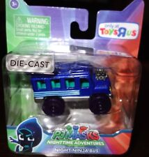 PJ Masks Die-Cast Night Ninja Bus- Collect All 5 Cars  New