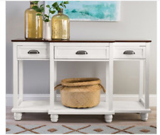 Buffet Table Wood Console Drawers Storage Dining Server Sideboard White Walnut