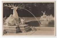 Schwetzingen Schlossgarten Hirschgruppe Germany Vintage RP Postcard 989b