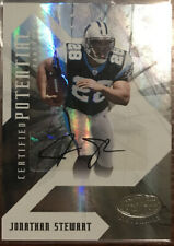Jonathan Stewart RC 2008 Leaf Certified Rookie Autograph #43/50 Panthers RC Auto