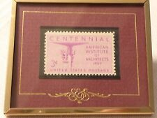 """American Institute of Architects - """"Stamps & Stories"""" Framed 1957 3-Cent Stamp"""