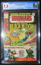 Amazing Adventures #4 CGC 7.5 (1971)...Inhumans & the Black Widow...Mandarin app